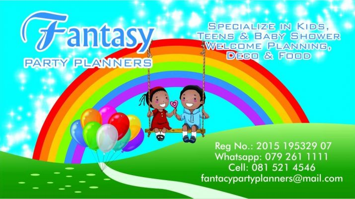 Fantasy Party Planners website, Party planning, Decor, Catering, Cakes, Entertainment
