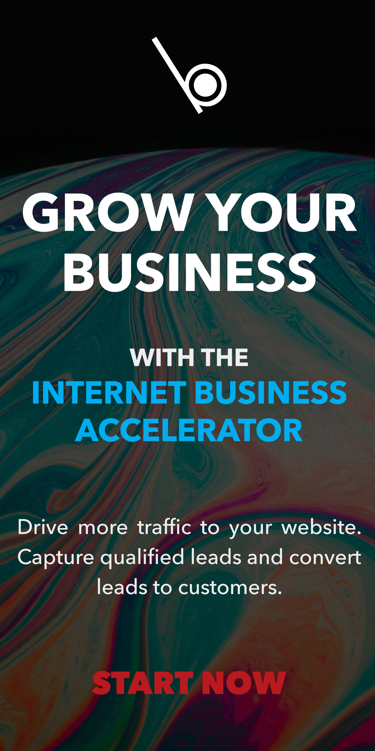 Whiteball Creative Solutions Online Advert Banner for the Internet Business Accelerator website services